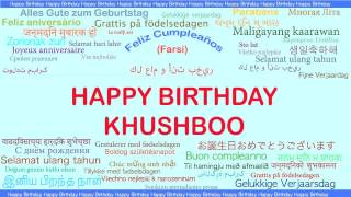 Khushboo   Languages Idiomas - Happy Birthday