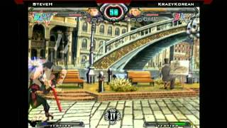 Final Round XV Guilty Gear XX Accent Core SteveH vs KrazyKorean
