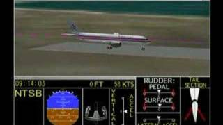 Flight Path Animation of the American Flight 587 accident