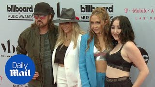 Billy Ray supports daughters Noah & Miley at Billboards - Daily Mail