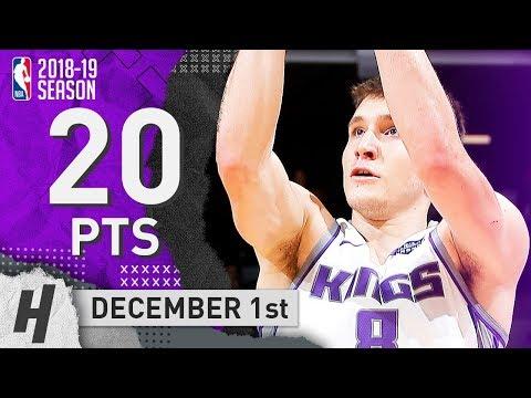 Bogdan Bogdanovic Full Highlights Kings vs Pacers 2018.12.01 - 20 Pts, 6 Ast!