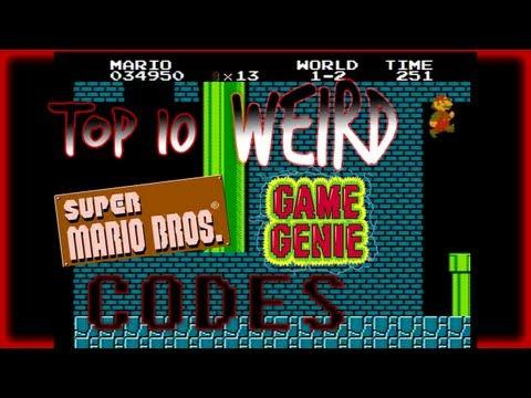 Top 10 WEIRD Super Mario Bros. Game Genie Codes