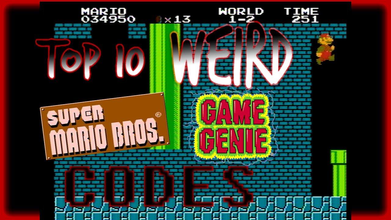 Top 10 WEIRD <b>Super Mario Bros</b>. <b>Game Genie Codes</b> - YouTube