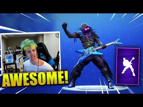 NINJA REACTS TO *NEW* ROCK OUT Dance Emote - Fortnite Best & Funny Moments (Fortnite Battle Royale)