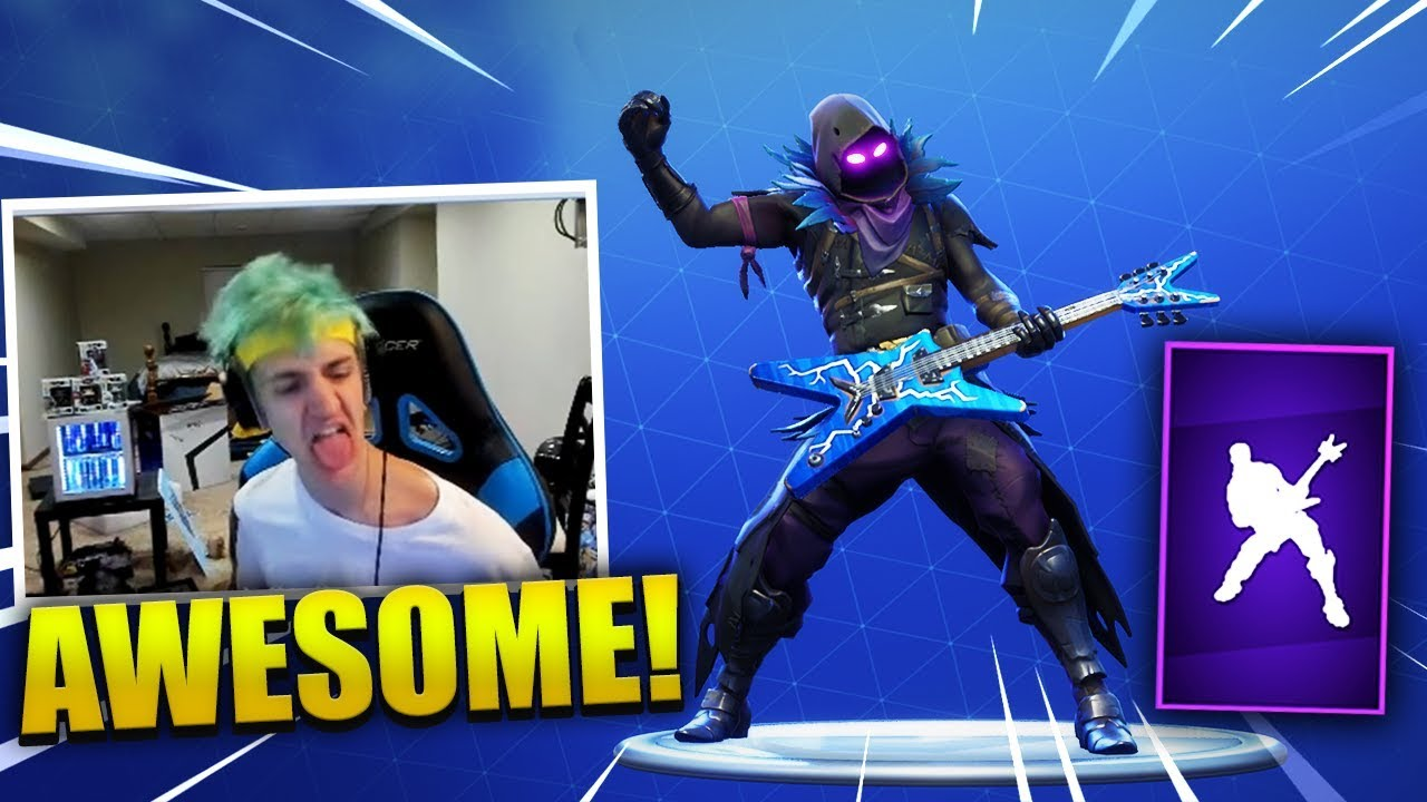 Ninja reacts to new rock out dance emote fortnite best