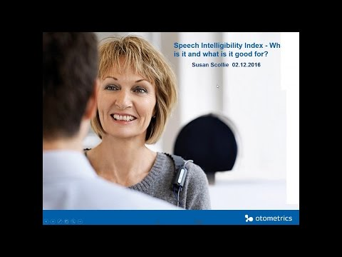 Speech Intelligibility Index - What is it and what is it good for?