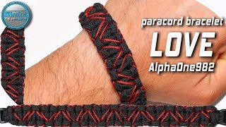Nanocord but GIGA LOVE!!! DIY Paracord Bracelet LOVE or HEARTS World of Paracord How to Make