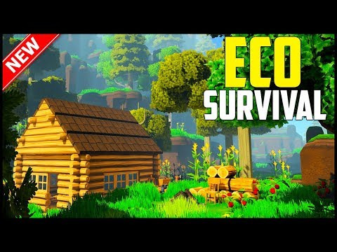 ECO Survival - Part 1: There's a Meteor Coming! (Open World Survival, Crafting, Building Gameplay!)