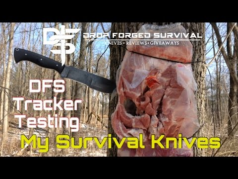 Custom Tracker Style Knife - Field Test & Review - My Survival Knife