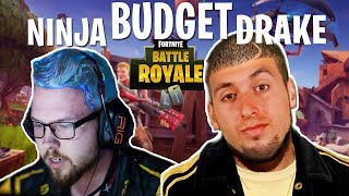 Budget Drake and Ninja Play Fortnite(HILARIOUS) 2017 Video