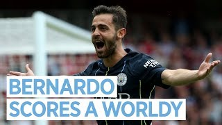 Bernardo Silva Scores a Worldy | Arsenal v City
