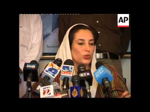 Benazir Bhutto comment on Musharraf giving up uniform
