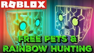Giving Away Free Pets and Rainbow Hunting (IMPOSSIBLE) | Roblox Pet Simulator
