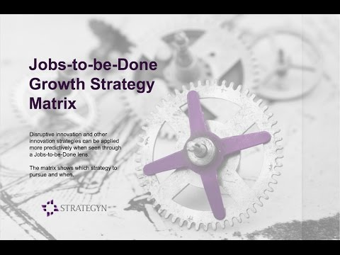 The Jobs-to-be-Done Growth Strategy Matrix - Jobs-to-be-Done