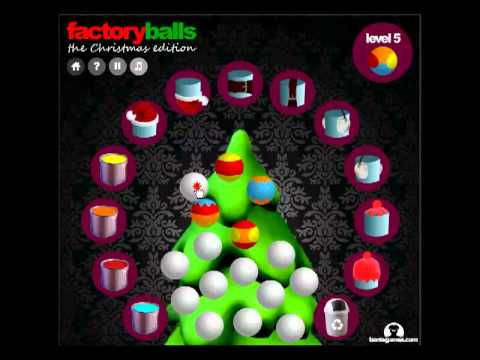 Factory balls Christmas Edition levels 1 - 8 - YouTube