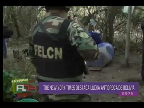 The New York Times destacó lucha antidroga de Bolivia