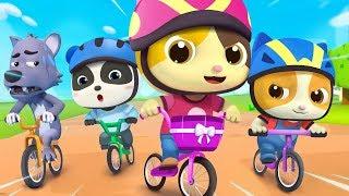 Bayi Kucing Timi & Mimi Balapan Sepeda | Lagu Anak