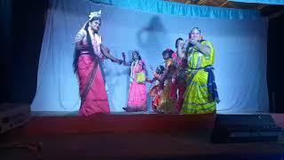 Tezpuror Dekar gaon Rakhpuja with my daughter little Krishna Makshita thumbnail