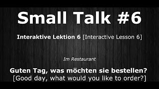 Deutsch Lernen | Interaktive Lektion 06 | Was möchten sie bestellen? | #SmallTalk | Learn German HD♫
