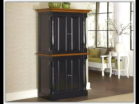 free standing corner pantry cabinet youtube. Black Bedroom Furniture Sets. Home Design Ideas