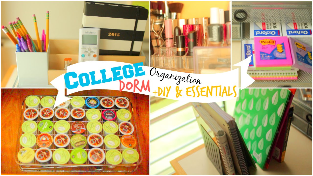 Back to School: College Dorm Room Organization Ideas + DIY ...