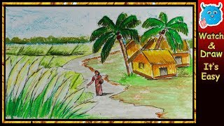 How To Draw Village Scenery Clip Ready
