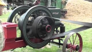 THRESHING WHEAT with a STEAM ENGINE tubalcain