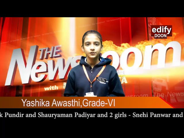 Gold medals in rock climbing-Edify world school,Dehradun