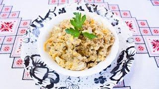 САЛАТ С ПЕЧЕНЬЮ И МОРКОВЬЮ простой и очень вкусный рецепт САЛАТ З ПЕЧІНКОЮ і МОРКВОЮ