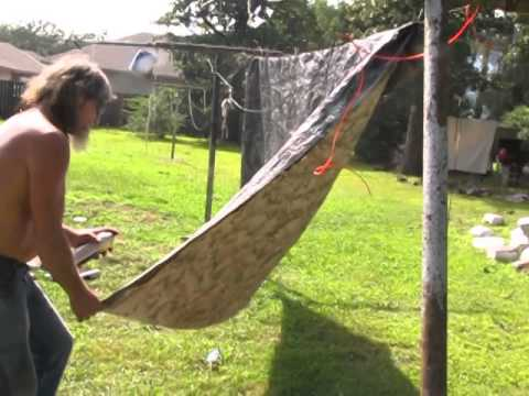 camo painting a scrap tent & camo painting a scrap tent - YouTube