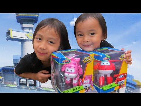 Super wings Dizzy Jett plane toy review Kid Toys @LifiaTubeHD