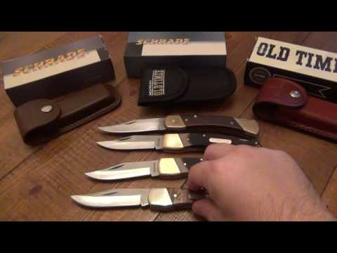 Knife Review : Schrade Models 60T, 60TW, & 70T (Triple Feature)