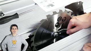 How To Change A Table Saw Blade // TACKLIFE Table Saw Blade Install