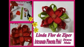DIY – Flor Linda de Zíper