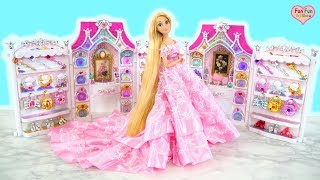Princess Barbie Rapunzel Elsa Bell Birthday Party Dress Up! Gaun pesta Putri Barbie Princesa Vestido