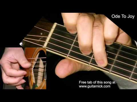 ODE TO JOY: Fingerpicking Guitar Lesson + TAB by GuitarNick