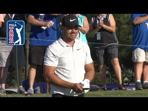 Brooks Koepka's pre-round warm-up routine