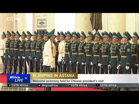 Welcome ceremony held for Chinese president's visit in Kazakhstan