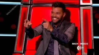 Ricky Martin en La Voz Mexico 4  Programa 8