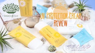 INNISFREE UV PROTECTION CREAM REVIEW | PERFECT | DAILY | AQUA | Tất cả về kem chống nắng Innisfree