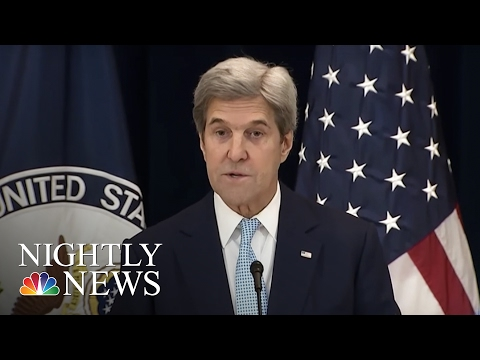 John Kerry Paints Dire Picture For Middle East Peace   NBC Nightly News