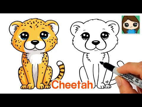 How to Draw a Cheetah Easy | Cute Cartoon Animal