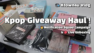 Kpop Unboxing Haul? Giveaway Haul! 🔴Live Unboxing TXT, NU'EST & 🎁More Giveaways [vlog 20191021]