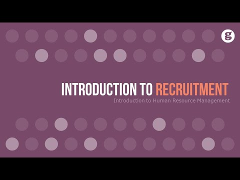 Introduction to Recruitment