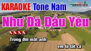 Như Đã Dấu Yêu Karaoke | Tone Nam - Nhạc Sống Thanh Ngân