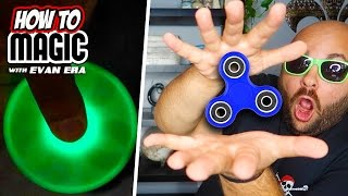 6 Fidget Spinner Magic Tricks!