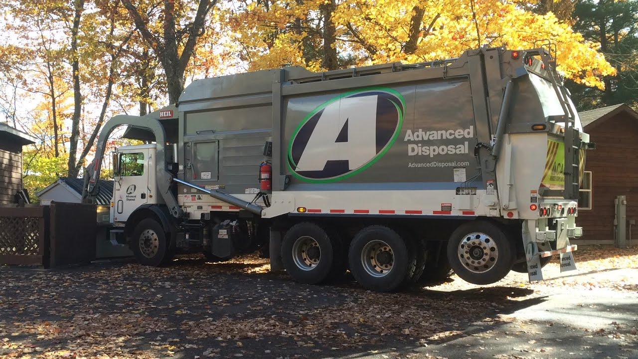 Advanced Disposal Front Loaders Youtube