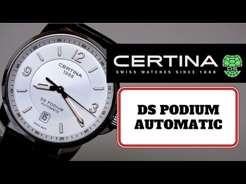(4K) CERTINA DS PODIUM Men's Watch Review Model: C001-407-16-037-01