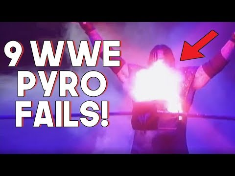 Top 9 WWE Pyro Entrance Fails, Accidents and mistakes!