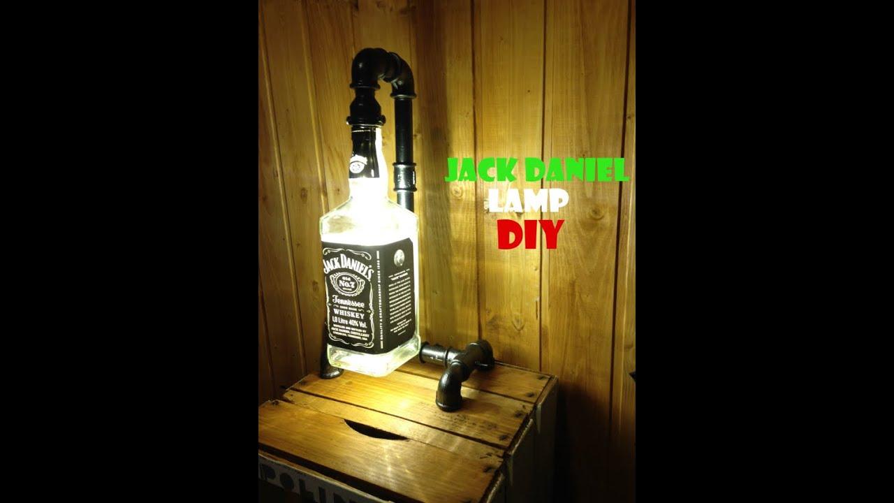 FAI DA TE - Lampada Jack Daniel 1.0 (DIY - Jack Daniel lamp 1.0) - YouTube